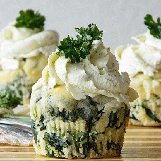 Rezept Spinat-Feta-Muffins