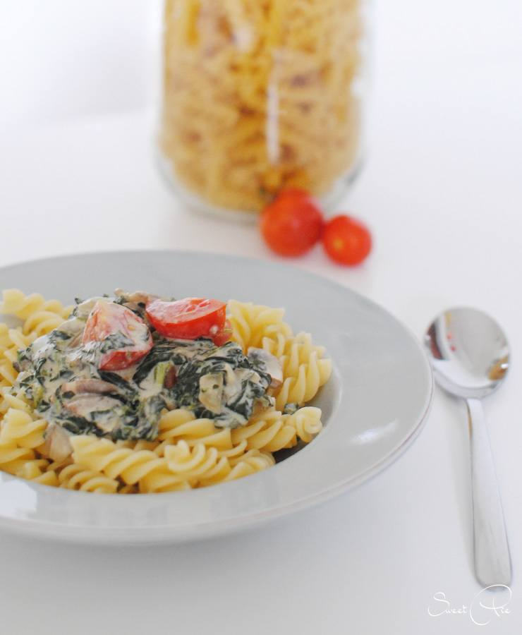 Rezept Spinat Gorgonzola Pasta