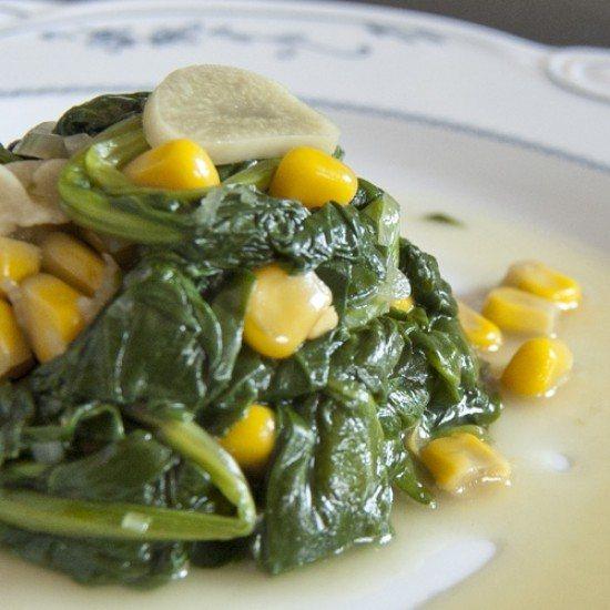 Rezept Spinat mit Mais