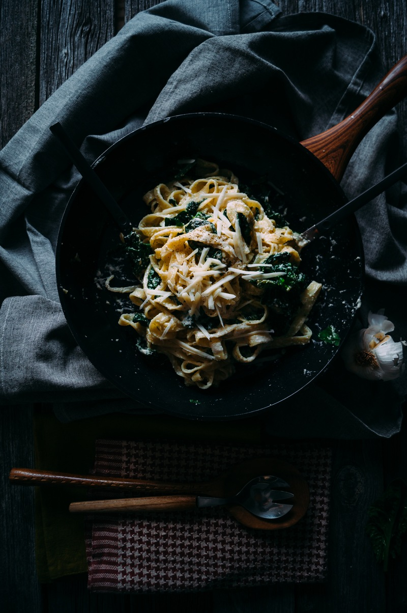 Rezept Spinat Pasta mit veganer Cashew-Creme