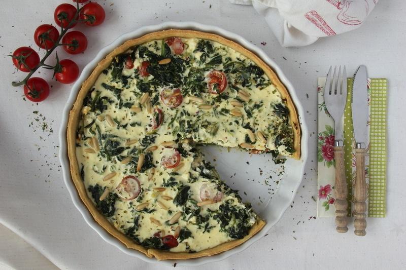 Rezept Spinat-Quiche mit Feta und Tomaten