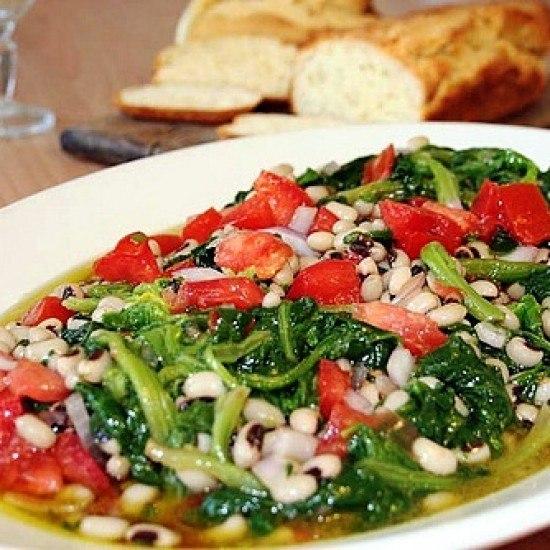 Rezept Spinat und Bohnen Salat
