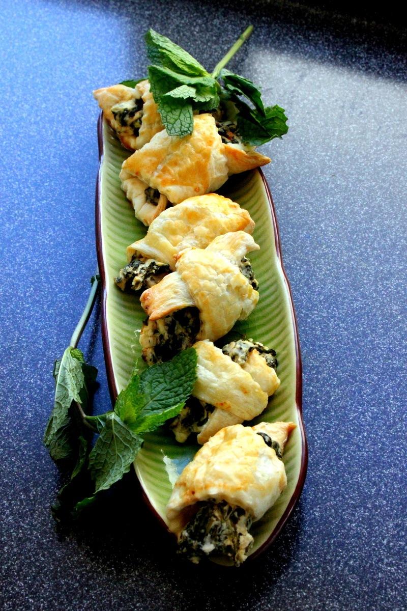 Rezept Spinat und Frischkaese Gipfeli