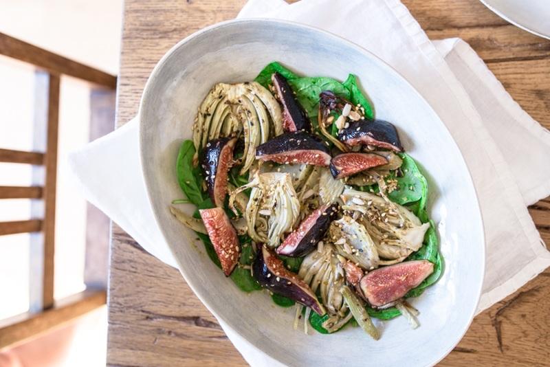 Rezept Spinatsalat mit Fenchel und Feigen