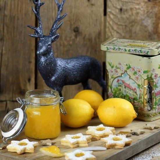 Rezept Spitzbuben mit Lemoncurd