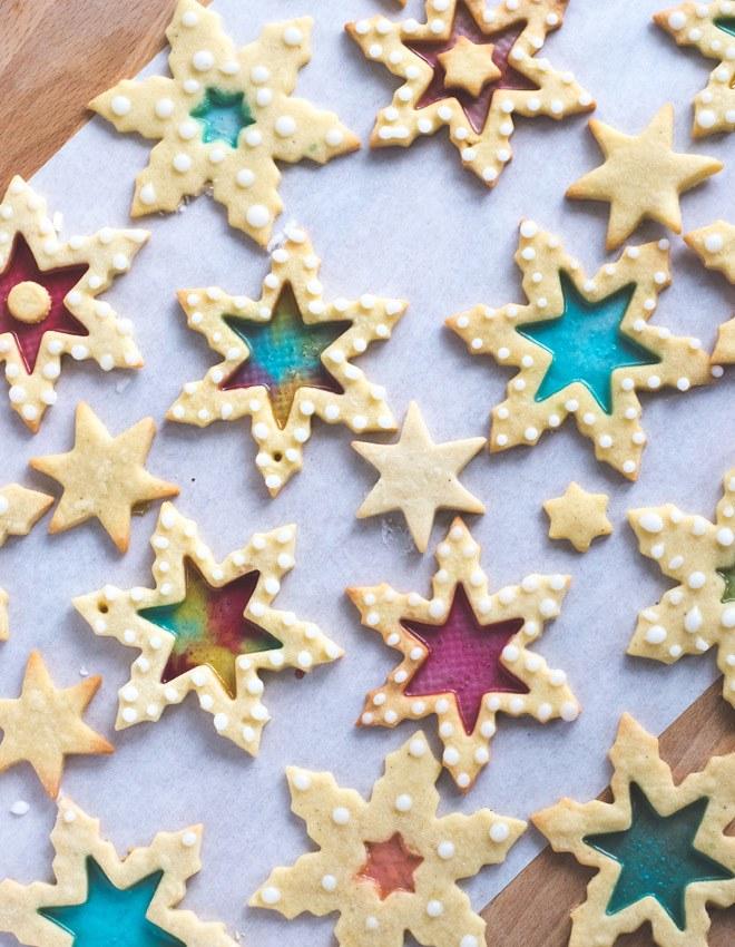 Rezept Stained Glass Cookies - Buntglas Plätzchen
