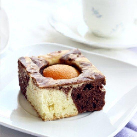 Rezept Stracciatella-Marmorkuchen mit Aprikosen