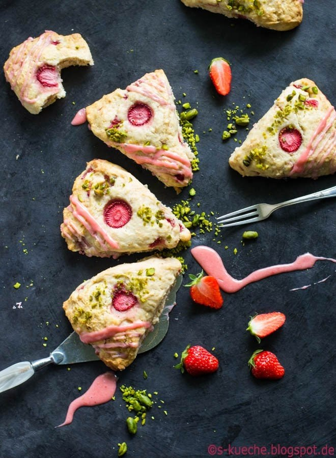 Rezept Strawberry Cream Scones