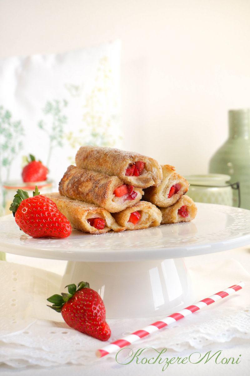 Rezept Strawberry French Toast Roll ups