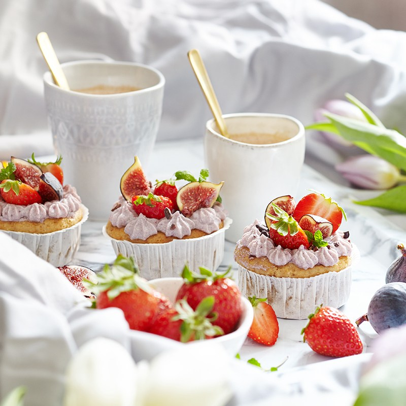 Rezept Strawberry Topinambur Cupcakes
