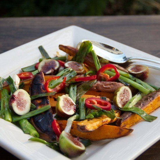 Rezept Suesskartoffelsalat mit Feigen