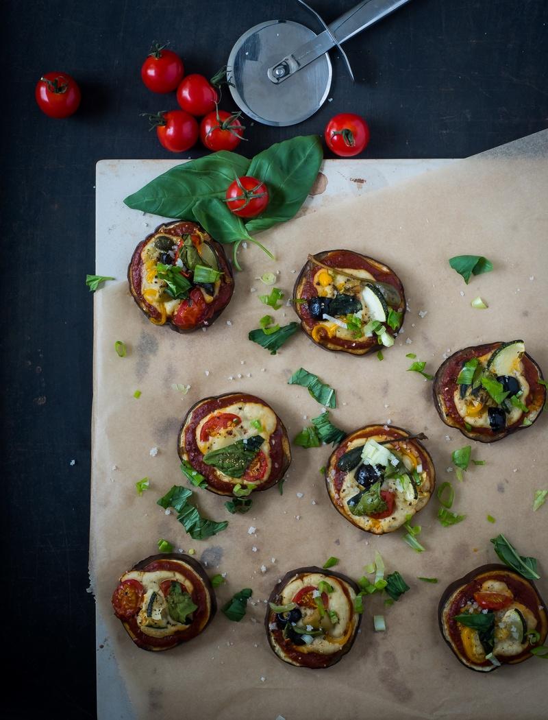 Rezept Sunday Soulfood: Pizza Bites aus Auberginen