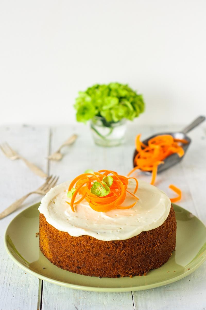 Rezept Super saftiger Karottenkuchen mit Frischkäsefrosting