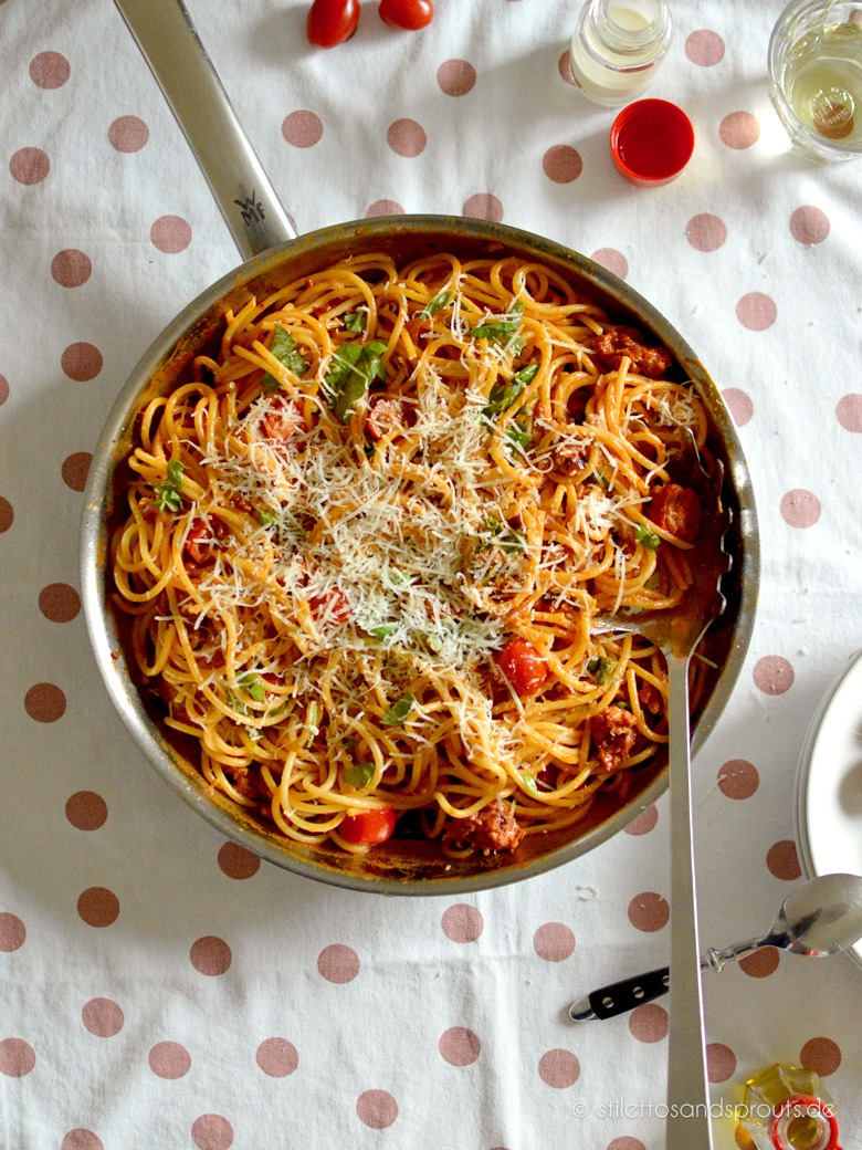 Rezept Super schnelle Spaghetti mit Salsiccia