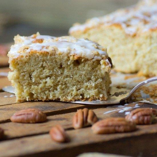 Rezept Superlecker: Bananen-Kokos-Kuchen mit Pekanstreuseln