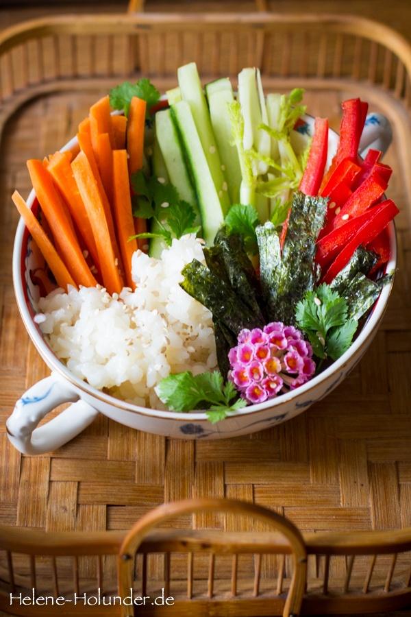 Rezept Sushi Salat, natürlich vegan!