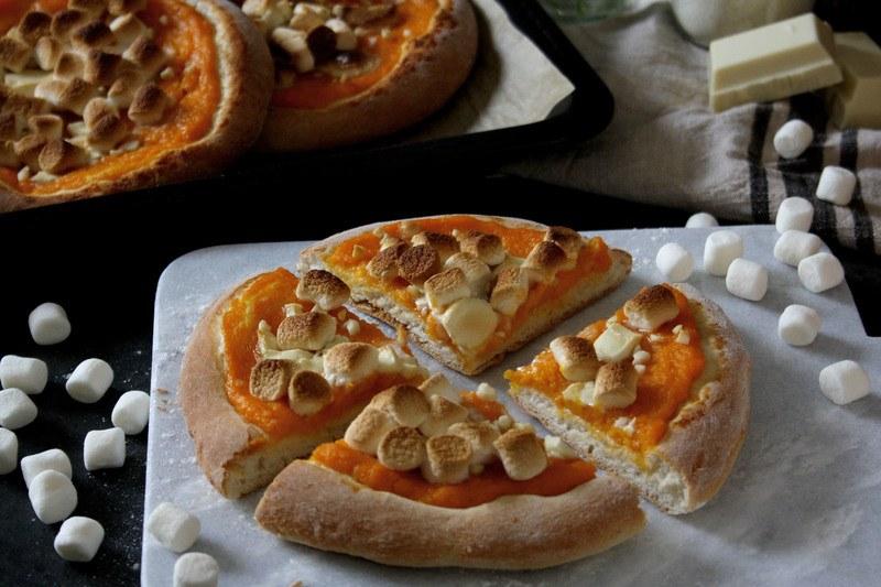 Rezept Süße Pizzetti mit Kürbiscreme & Marshmallows