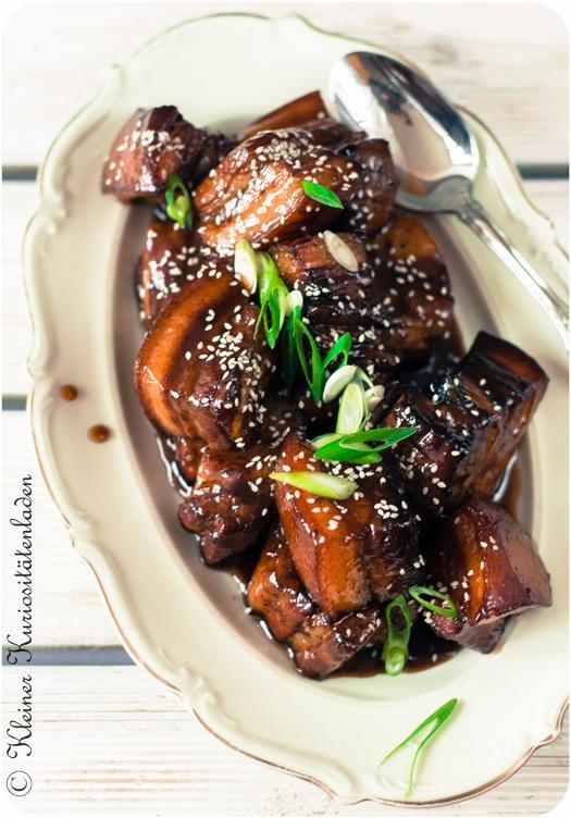 Rezept  Süßer Schweinebauch mit schwarzem Essig