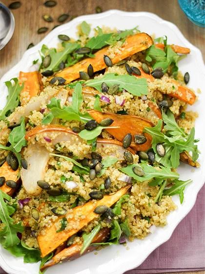 Rezept Süßkartoffel-Birnen Salat mit Quinoa