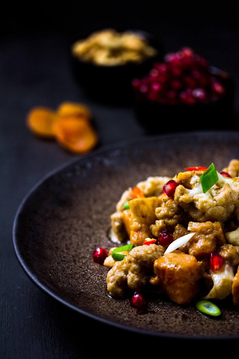 Rezept Süßkartoffel-Blumenkohl-Curry