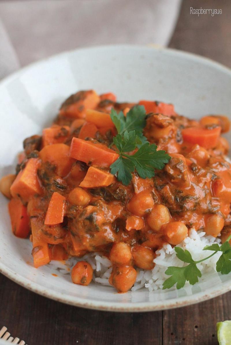 Rezept Süßkartoffel-Kichererbsen-Curry