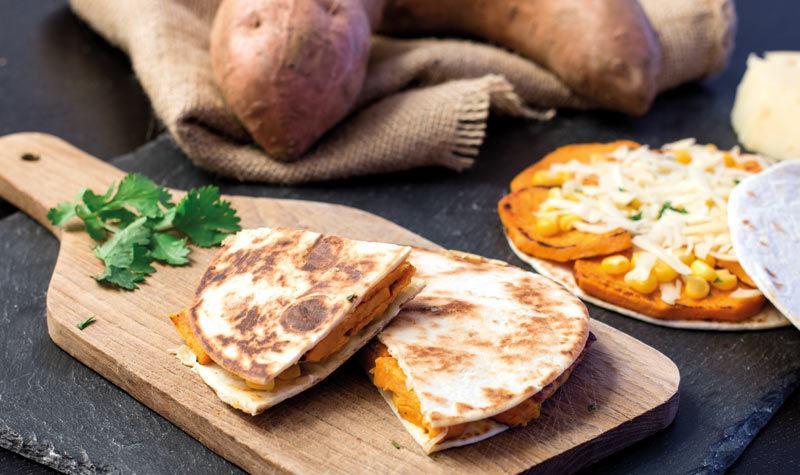 Rezept Süßkartoffel-Mini-Quesadillas