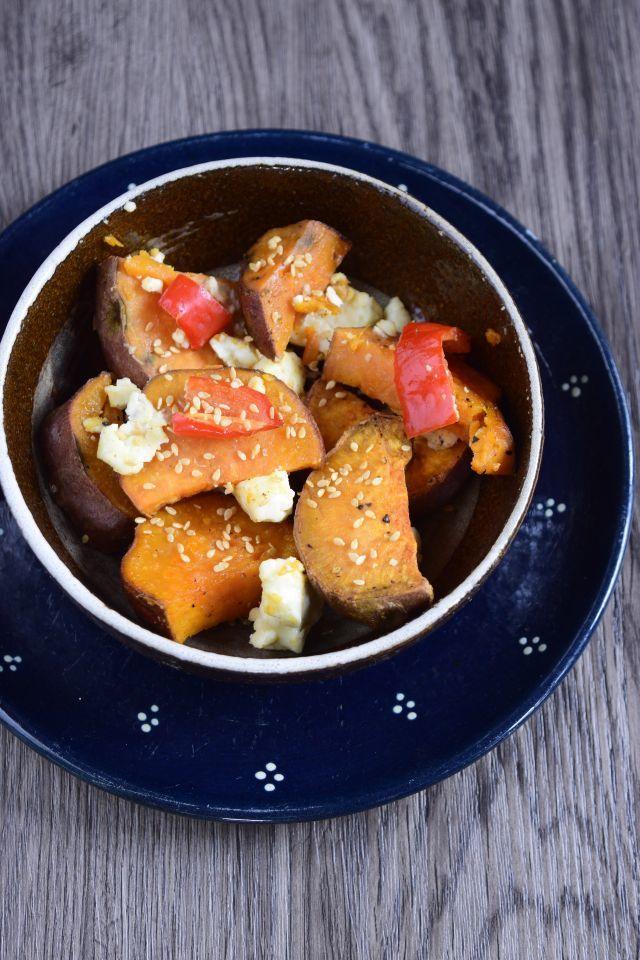 Rezept Süßkartoffel mit Paprika und Fetakäse aus dem Ofen