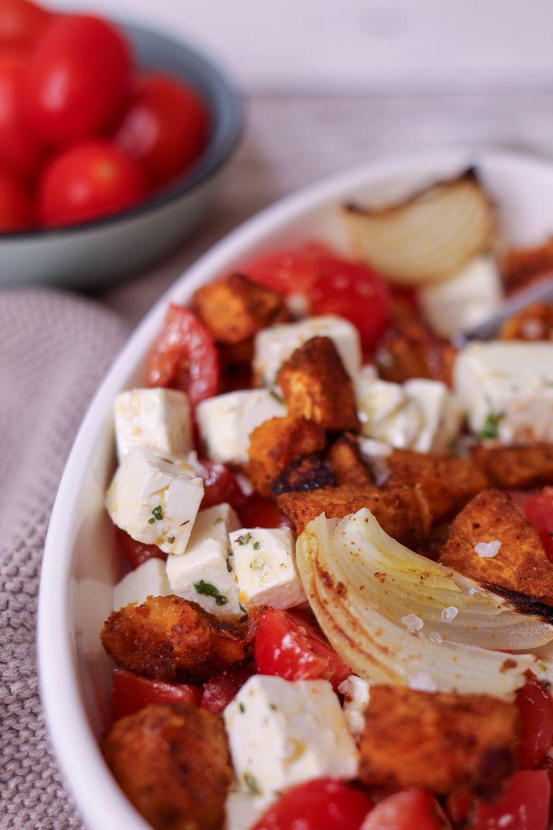 Rezept Süßkartoffel mit würzigem Feta