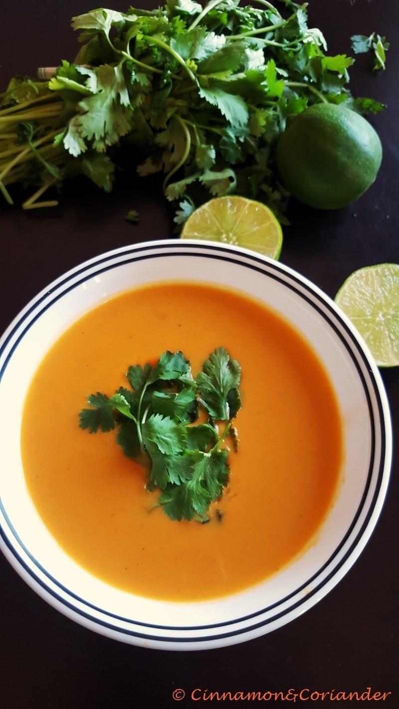 Rezept Süßkartoffel Suppe mit Kokosmilch und Limette