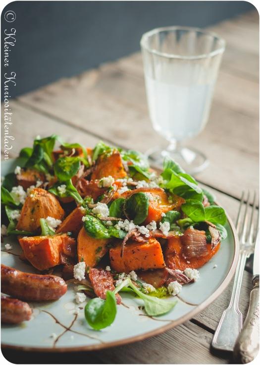 Rezept Süßkartoffelsalat mit Speck