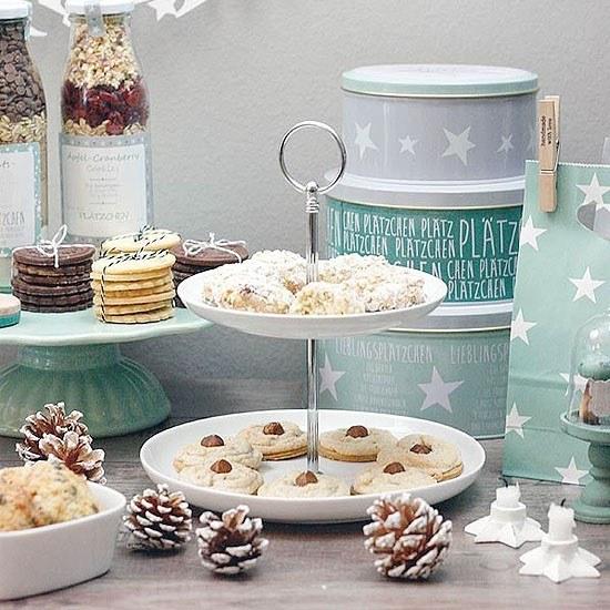 Rezept Sweet Table mit Weihnachtsplätzchen