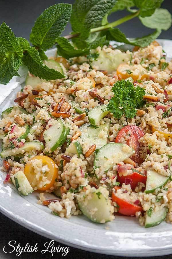 Rezept Tabouleh mit Feta und Pinienkernen