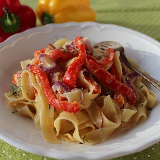 Rezept Tagliatelle mit gegrillter Paprika