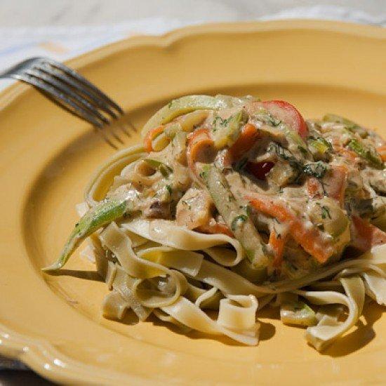 Rezept Tagliatelle mit Gemüse-Käse Sauce