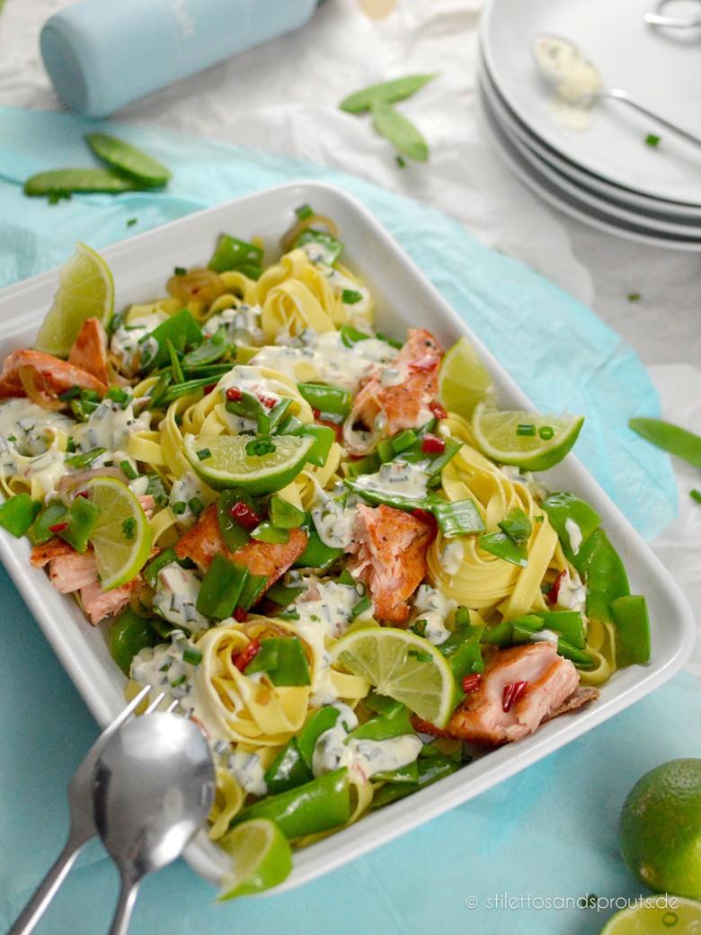 Rezept Tagliatelle mit Lachs in cremiger Limettensauce