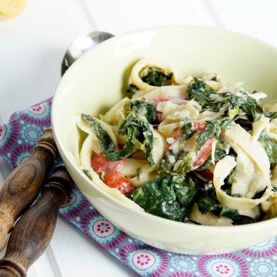 Rezept Tagliatelle mit Spinat und Gorgonzola