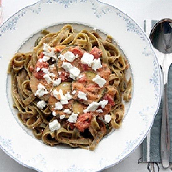 Rezept Tagliatelle mit Zucchini und Feta