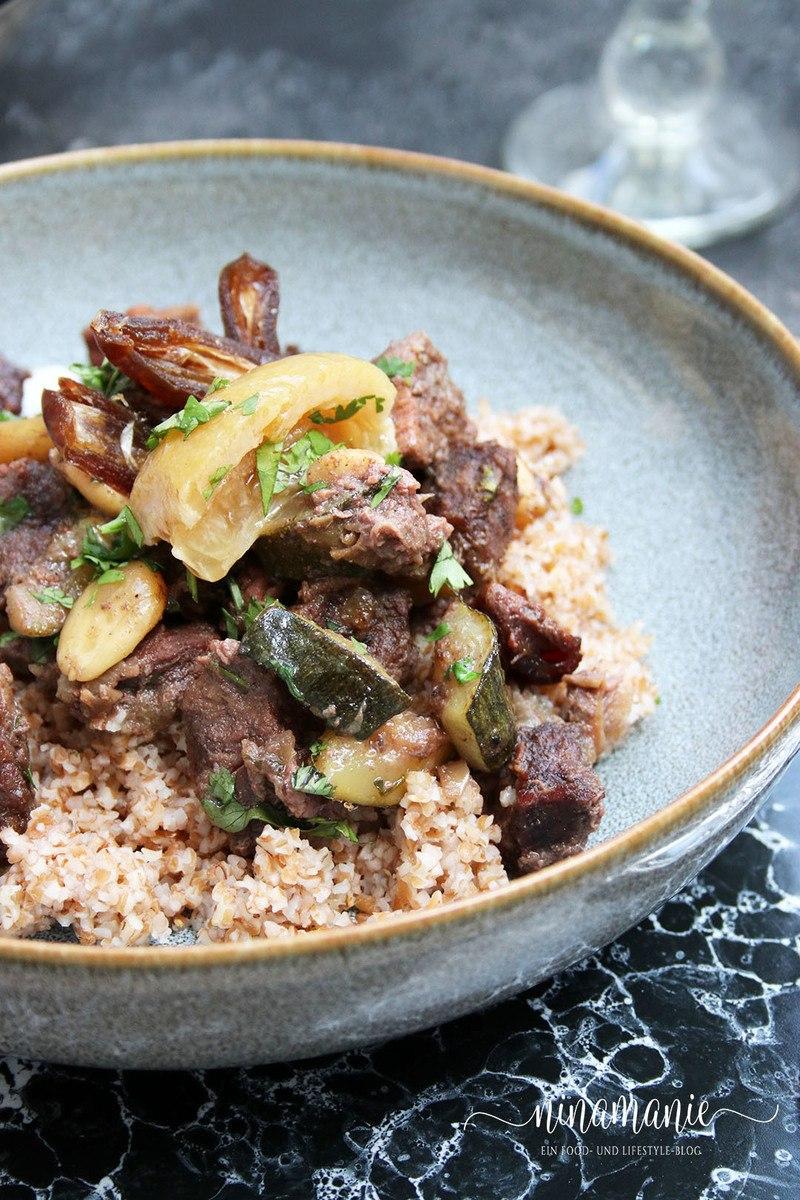 Rezept Tajine mit Rindfleisch, Datteln und Salzzitronen