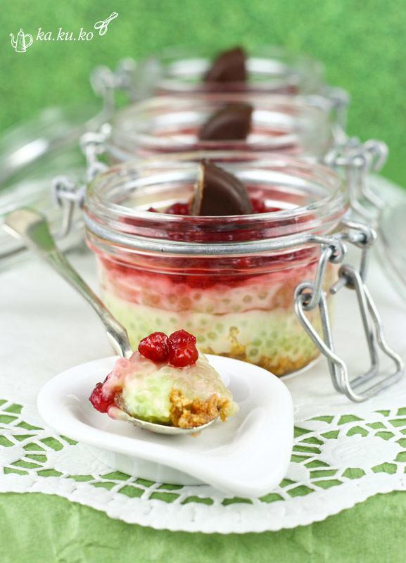 Rezept Tapioka-Dessert mit Gin-Preiselbeeren