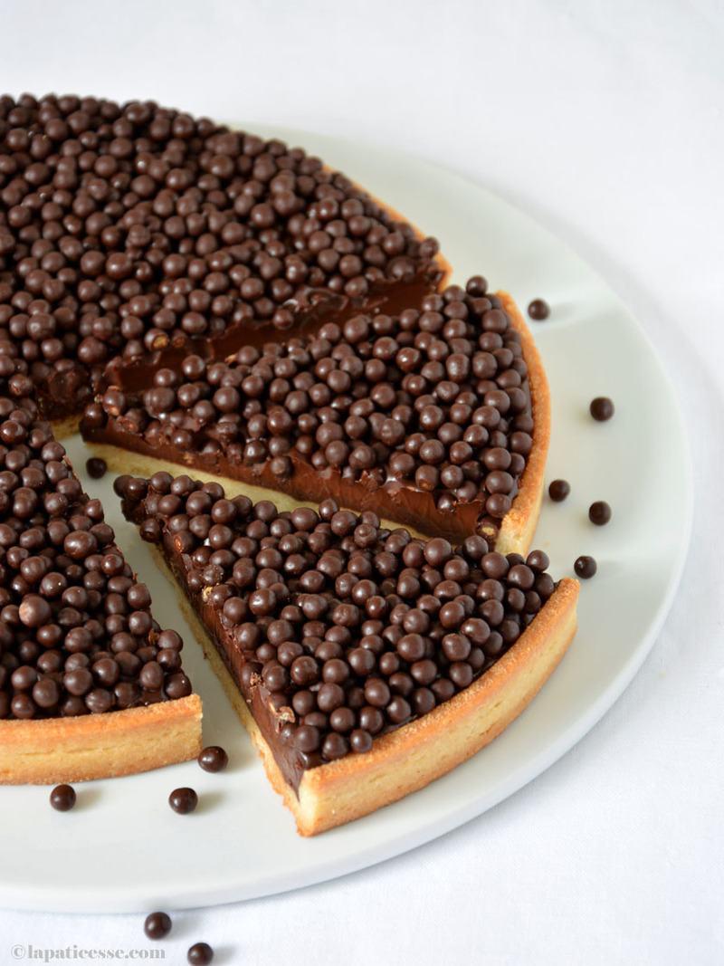 Rezept Tarte au chocolat mit Crispearls
