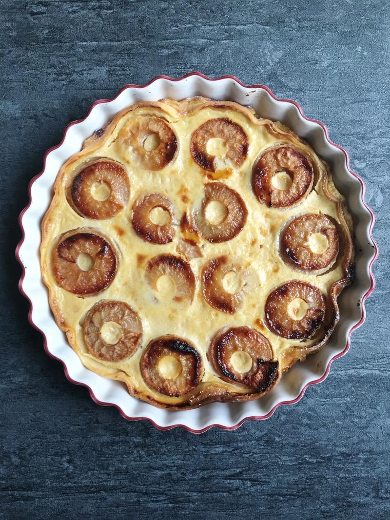 Rezept Tarte aux pommes à l'alsacienne (Elsässischer Apfelkuchen)