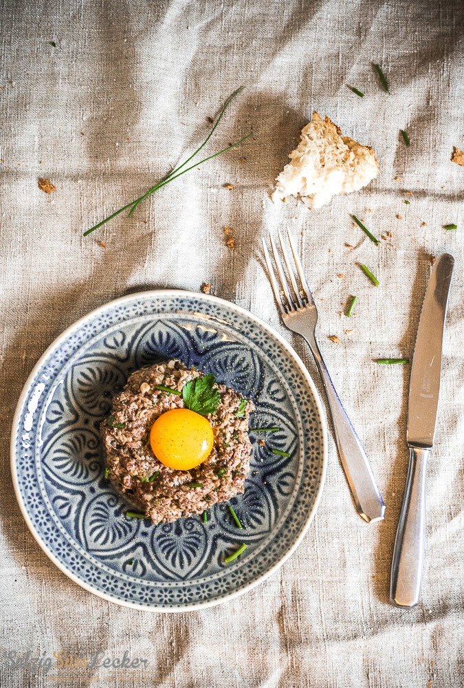 Rezept Tatar und No-Knead Brot vom Feinsten