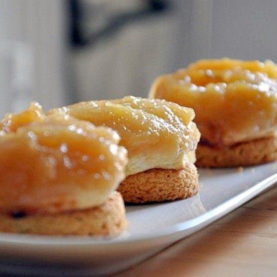 Rezept Tatin sur Palet breton (kleiner Apfelkuchen auf bretonische Kekse)