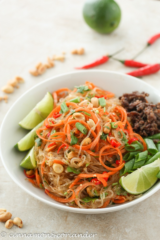 Rezept Thai Glasnudel Salat - Yam Wun Sen