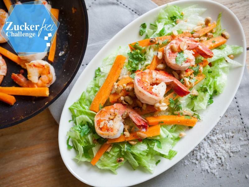 Rezept Thai Salat mit Garnelen