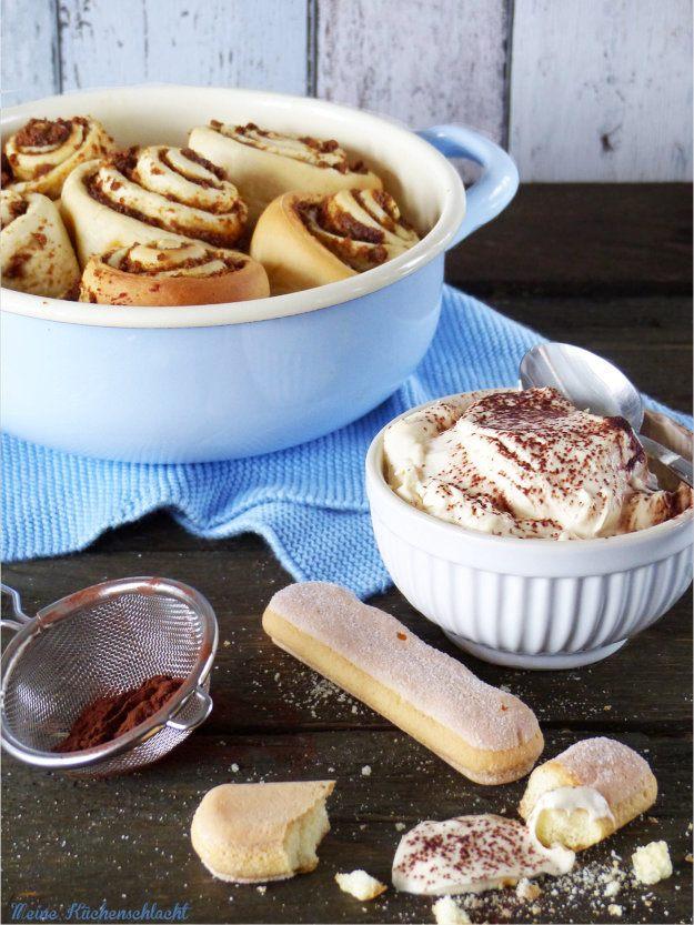 Rezept Tiramisu Hefeschnecken mit Baileys Creme