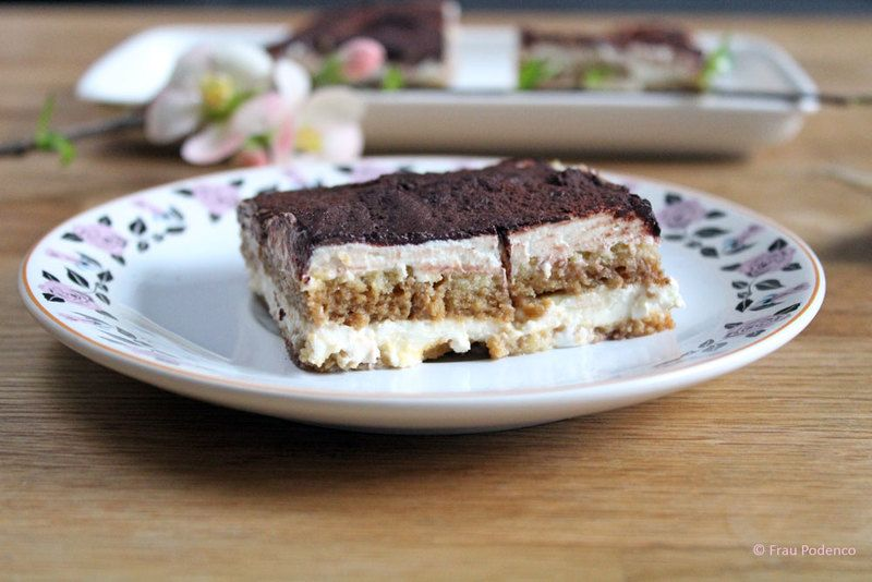 Rezept Tiramisu mit selbst gebackenen Löffelbiskuits