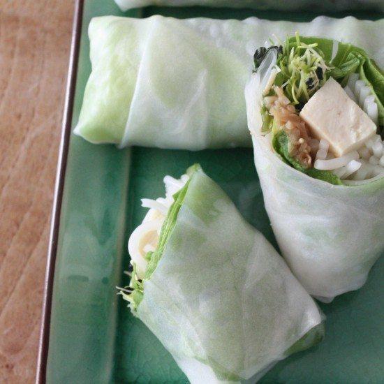 Rezept Tofu-Frühlingsrollen und Hoisinsauce