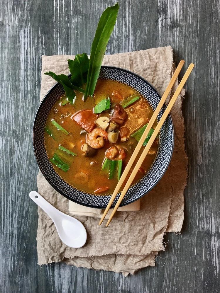 Rezept Tom Yum Goong - thailändische Suppe mit Garnelen