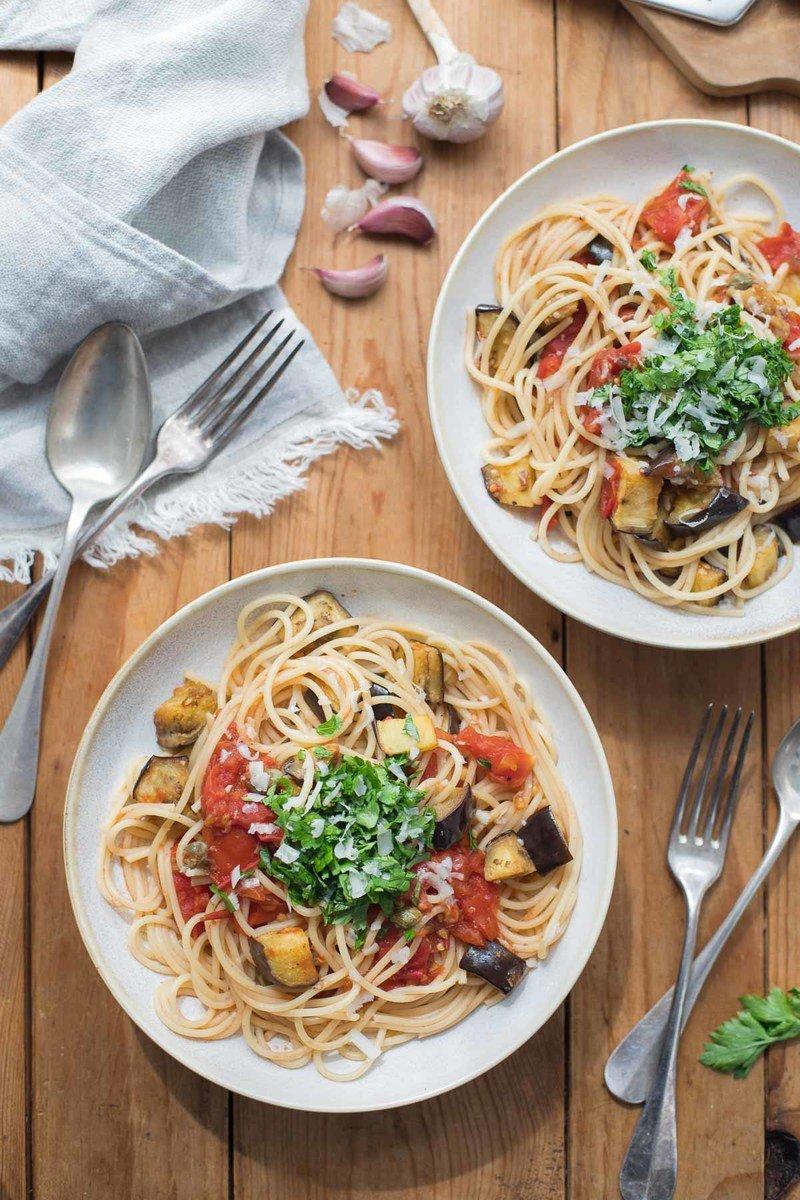 Rezept Tomaten-Auberginen-Pasta